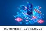 doctor online. medical... | Shutterstock .eps vector #1974835223