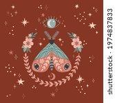 magical luna butterfly bloomy...   Shutterstock .eps vector #1974837833
