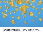 btc. bitcoin gold coins... | Shutterstock .eps vector #1974844793