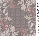 abstract scarf pattern with... | Shutterstock .eps vector #1974851993