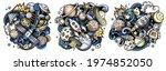 space cartoon vector doodle...   Shutterstock .eps vector #1974852050