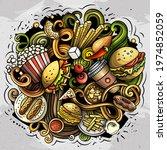 fastfood vector doodles...   Shutterstock .eps vector #1974852059