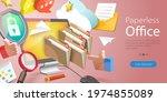 3d vector conceptual... | Shutterstock .eps vector #1974855089