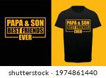 papa and son best friends ever... | Shutterstock .eps vector #1974861440