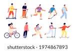 people summer walk. sport... | Shutterstock .eps vector #1974867893