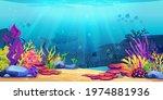 coral reef underwater world... | Shutterstock .eps vector #1974881936