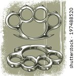 brass knuckles | Shutterstock .eps vector #197488520