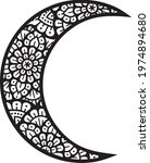 mandala moon layered vector icon | Shutterstock .eps vector #1974894680