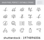 hair cosmetic line icons.... | Shutterstock .eps vector #1974896006