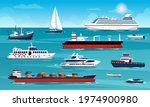 Set Of Sea And Ocean Ships And...