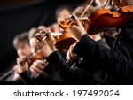 symphony orchestra first violin ... | Shutterstock . vector #197492024