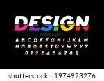 modern vivid colorful font ... | Shutterstock .eps vector #1974923276