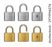 locked and unlocked lock icons... | Shutterstock .eps vector #1974946376