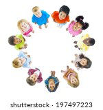 group of children standing... | Shutterstock . vector #197497223