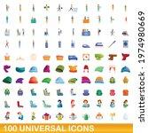 100 universal icons set.... | Shutterstock .eps vector #1974980669