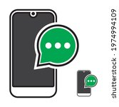 Phone Sms Text Message Flat...