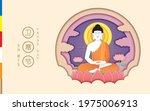 happy wesak day or buddha...   Shutterstock .eps vector #1975006913