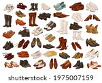 vintage and retro shoes for men ... | Shutterstock .eps vector #1975007159