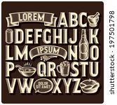 set of vintage font and design... | Shutterstock .eps vector #197501798