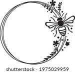 bee frame design  vector... | Shutterstock .eps vector #1975029959