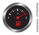 vector empty fuel warning light ... | Shutterstock .eps vector #1975042436