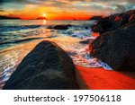 Colorful Ocean Bay Sunrise Wit...