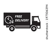 free delivery icon  vector... | Shutterstock .eps vector #197506394