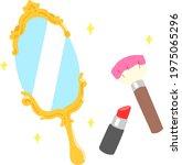 fancy handheld mirror and...   Shutterstock .eps vector #1975065296