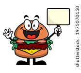 funny cheeseburger cartoon... | Shutterstock .eps vector #1975070150
