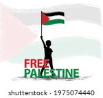 free palestine the boy stand... | Shutterstock .eps vector #1975074440