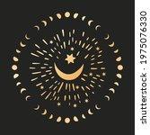 celestial moon sacred astrology ...   Shutterstock .eps vector #1975076330