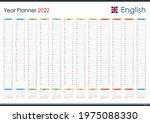 planner calendar for 2022. wall ... | Shutterstock .eps vector #1975088330