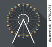 ferris wheel icon. flat design... | Shutterstock .eps vector #197510078