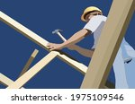 construction workers are...   Shutterstock .eps vector #1975109546