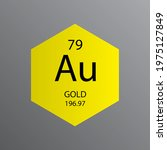 au gold transition metal... | Shutterstock .eps vector #1975127849