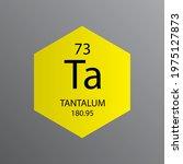 ta tantalum transition metal... | Shutterstock .eps vector #1975127873