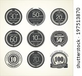 anniversary retro labels   Shutterstock .eps vector #197513870