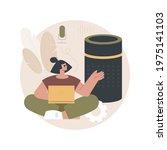 smart speaker abstract concept...   Shutterstock .eps vector #1975141103