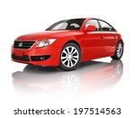Stock photo red car 197514563