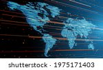 vector. abstract map of the... | Shutterstock .eps vector #1975171403
