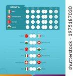 group a scoreboard of european... | Shutterstock .eps vector #1975187030
