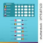group b scoreboard of european... | Shutterstock .eps vector #1975187123