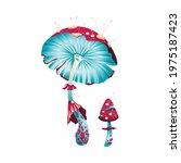 magic fantasy mushroom  unusual ... | Shutterstock .eps vector #1975187423