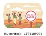stop child labor flat poster... | Shutterstock .eps vector #1975189076