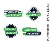 cash on delivery label badges...   Shutterstock .eps vector #1975213169