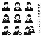 user icons. raster. | Shutterstock . vector #197522750
