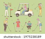 various positions of people... | Shutterstock .eps vector #1975238189