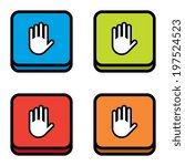cartoon hand or warning icons