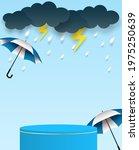 rainy season theme product...   Shutterstock .eps vector #1975250639
