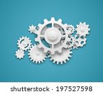 composition of white gears...